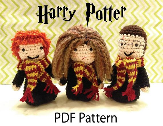 Amigurumi Harry Potter Pattern : 638 best images about Disney and Other Movie Characters ...