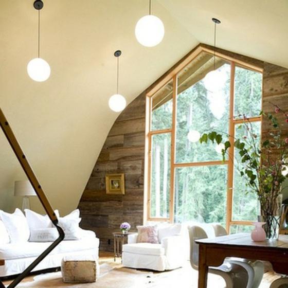 Barn house interior gambrel my world pinterest for Gambrel barn house