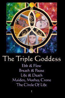 Book of Shadows:  #BOS the Tripple Goddess page ~ Mandala Meditations Guidance.