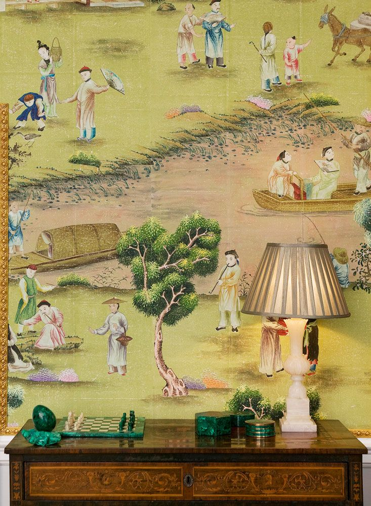139 best Chinoiserie~ Papers & Fabrics images on Pinterest | Wall ...