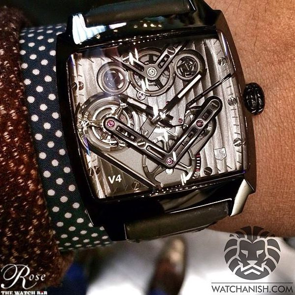 Check out the first look of TAG Heuer Monaco V4 #Tourbillion  This is the first belt-driven tourbillion and certainly amongst one of the best in this category.  #Baselworld2014 #Exclusive #TagHeuer Baselworld - The Watch and Jewellery Show