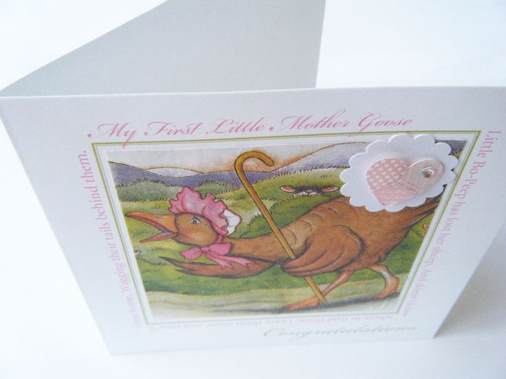 Lovely baby's card and up cycling at the same time.