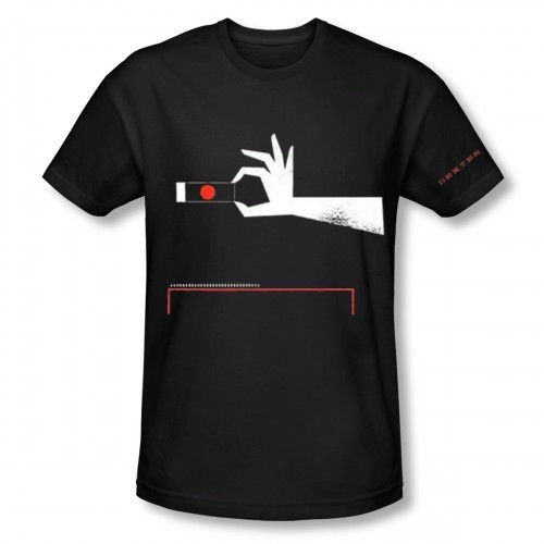 Dexter T-shirt: A slide and collection box.
