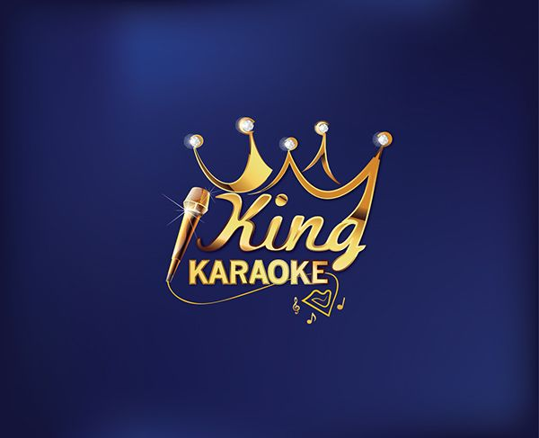 Logo designA project for branding a KARAOKE HOUSE. It is named KING KARAOKE which glory, royal style, gold color, modern interior, flexible design.