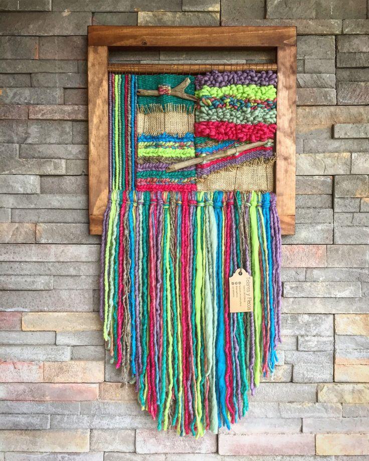 #wovenwallhanging #telar #woven #wallhanging Un favorito personal de mi tienda Etsy https://www.etsy.com/es/listing/486063667/woven-wall-hanging