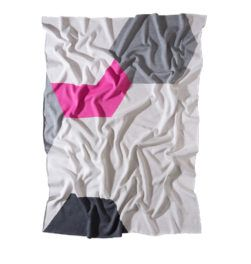 THE ATLANTIC CLASSIC BLANKET Grey/Rose/White