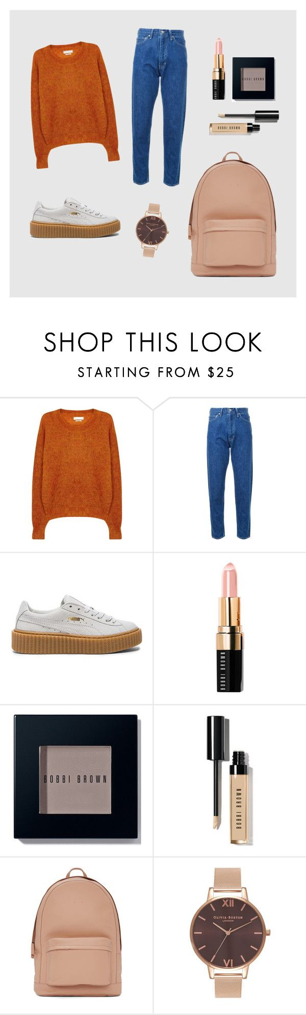 """Cool Neutrals"" by margaux5310 ❤ liked on Polyvore featuring Étoile Isabel Marant, CITYSHOP, Puma, Bobbi Brown Cosmetics, PB 0110 and Olivia Burton"