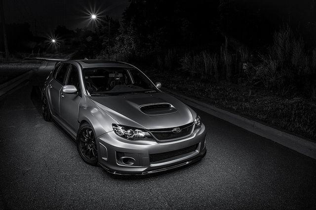 Light Painting on a Subaru WRX
