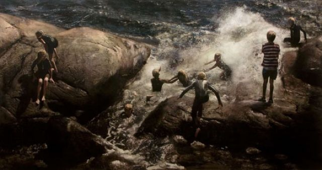 Nothing is like norwegian summer... Another amazing painting by Per Fronth