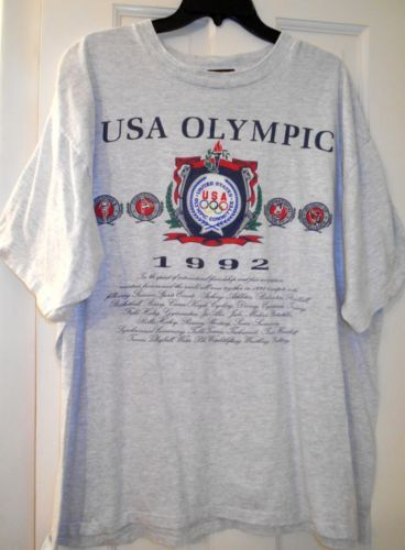 13b1276715fd Vtg 1992 USA Olympics Barcelona Dream Team Magic Johnson Michael Jordan  Shirt~XL
