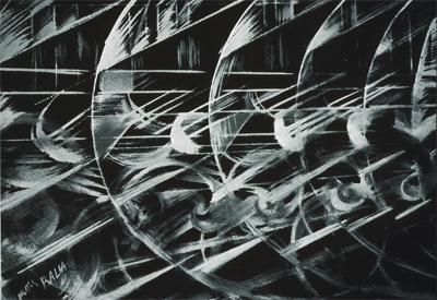 Balla, Giacomo; Materiality of Lights and Speed; 1913; gouache on paper