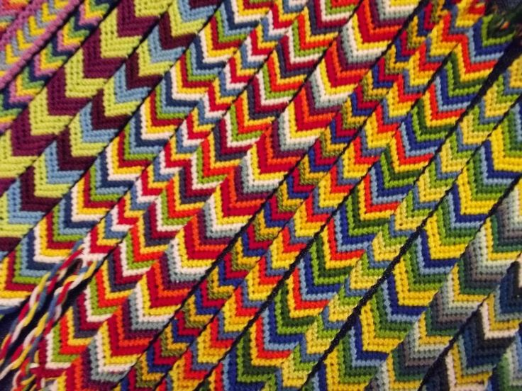 friendship bracelets made along a year for a charity christmas market