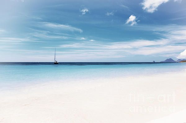 """Sea and Sky, Blue Sea and Sky Art Photography.  From """"Caribbean"""" Photo Art Prints."""