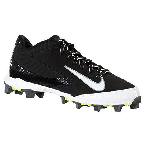 NIKE HUARACHE KEYSTONE LOW GS BLACK/WHITE YOUTH MOLDED BASEBALL CLEATS 5.5Y * Continue to the product at the image link.