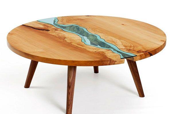 川が流れるテーブルちゃぶ台