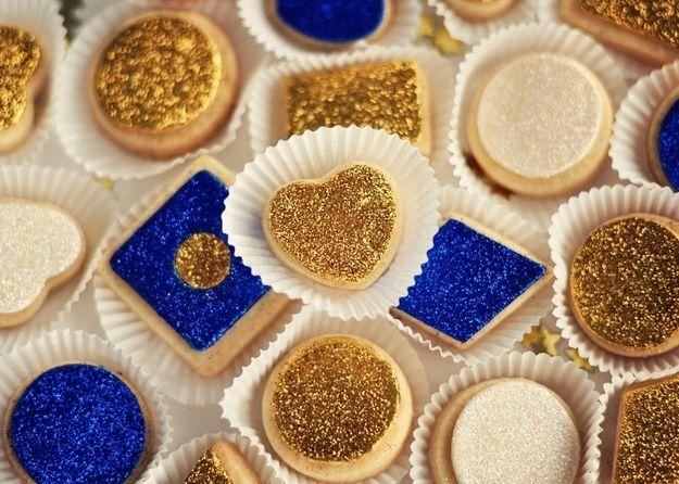 Gilded Glitter Sugar Cookies