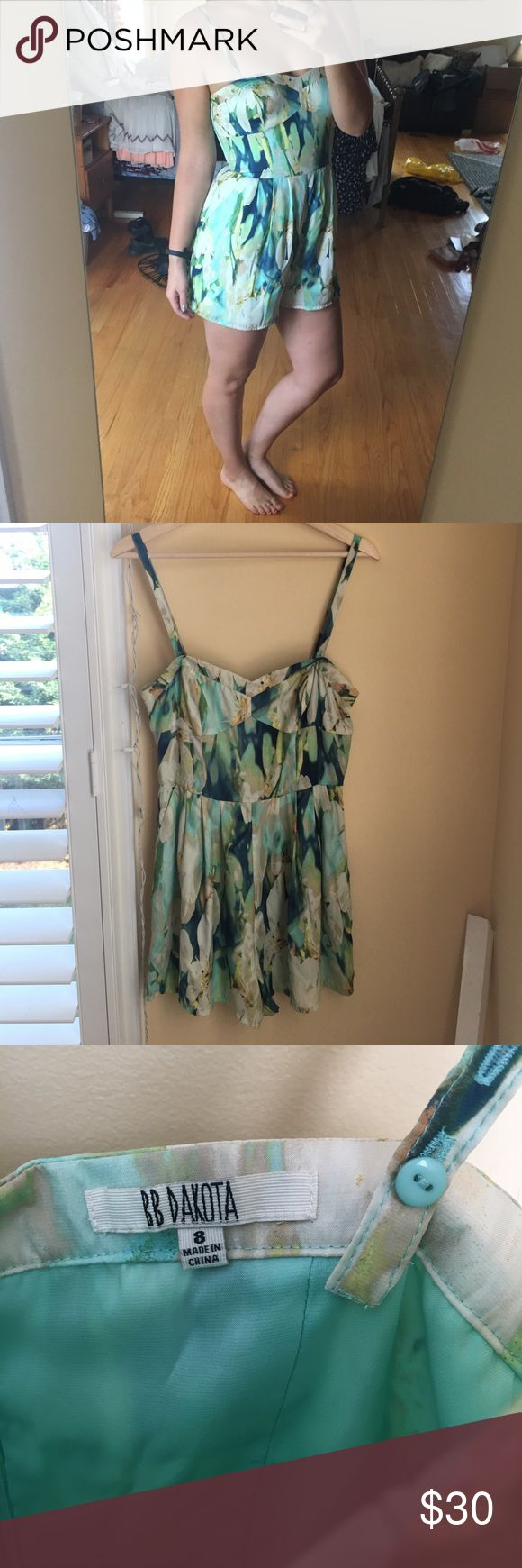 Silk Lily Romper Beautiful water lily print romper. Silk material, lined. Removable straps - can be worn strapless. New with tags. Size 8, from UO. Urban Outfitters Dresses