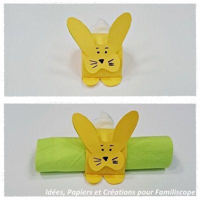 Rond de serviette Lapin pour blog  Déco et activités pour Pâques ...