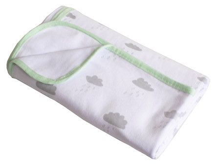 Cotton Jersey Rainy Day Large Baby Blanket / Wrap
