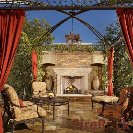 Mediterranean Exterior Of Home With Pathway Fountain: Mediterranean Patios, Pergolas, Stucco Terraces, Water