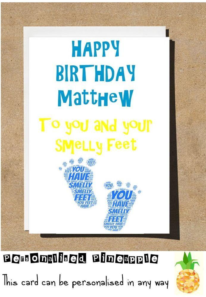 SMELLY FEET BIRTHDAY CARD FUNNY BANTER HUMOUR
