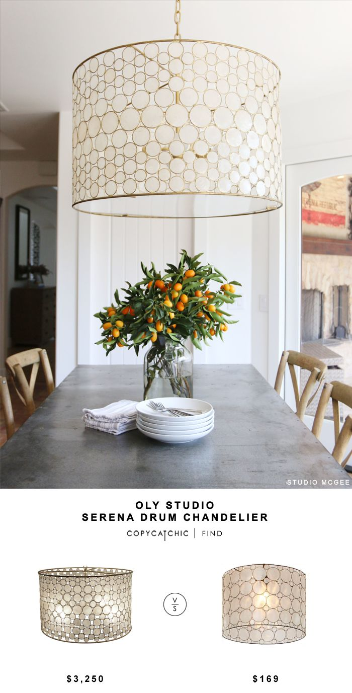 Oly Studio Serena Drum Chandelier for $3,250 vs Pottery Barn Teen Piper Capiz Hanging Pendant for $169 Copy Cat Chic luxe living for less budget home decor http://www.copycatchic.com/2016/12/oly-studio-serena-drum-chandelier.html?utm_campaign=coschedule&utm_source=pinterest&utm_medium=Copy%20Cat%20Chic&utm_content=Oly%20Studio%20Serena%20Drum%20Chandelier