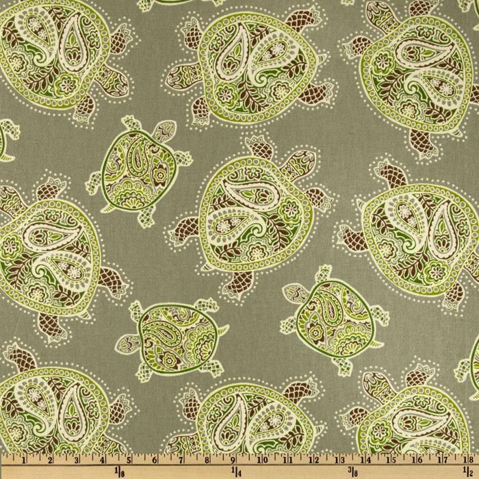 Tommy Bahama Home Tranquil Turtles Fossil Tranquil Turtlehome Decor Fabrictommy
