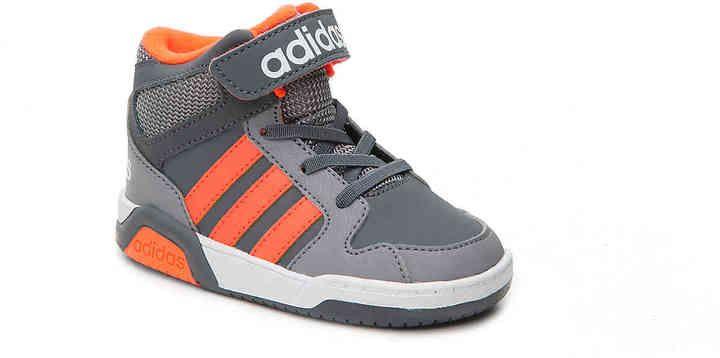 adidas Boys NEO BB9TIS Toddler Basketball Shoe -Grey/Orange