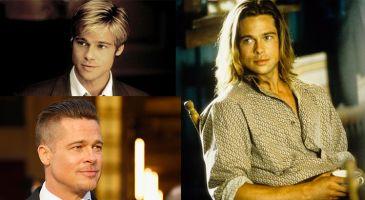 Brad Pitt en 10 coupes de cheveux