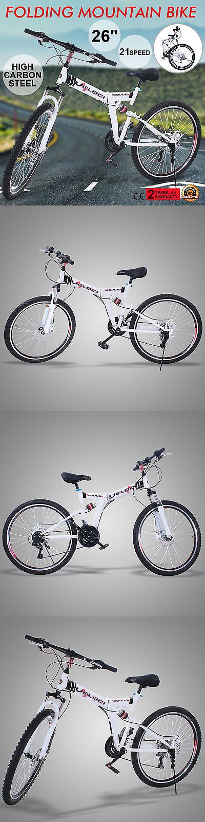 Bicycles 177831: Folding Mountain Bike 26 21 Speed Mtb Bicycle Shimano Mens Bike Carbon Steel BUY IT NOW ONLY: $120.0