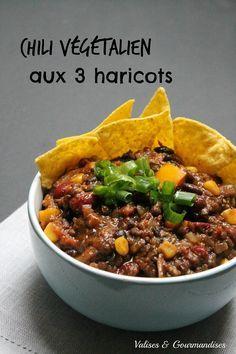 Chili végétalien aux 3 haricots                                                                                                                                                                                 Plus