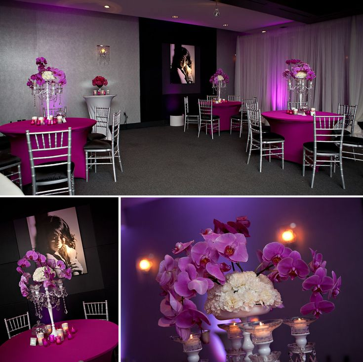 Pink nightclub themed sweet sixteen party sweet sixteen for 16th birthday decoration ideas