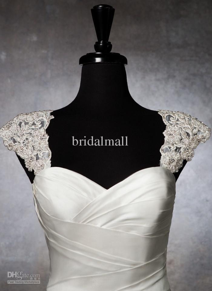 2015 romantic exquisite beaded bridal wraps detachable cap for Wedding dress detachable sleeves