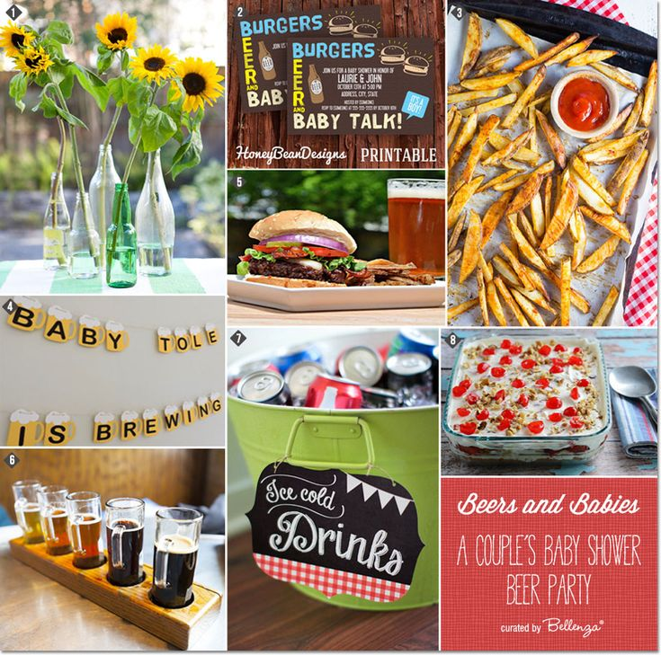 A Beers and Burgers Couple's Baby Shower Party! #babyshowers #babyshowersideas #babyshowerthemes