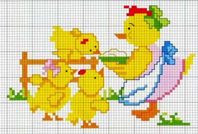 mother duck and duckies, just ducky! <3