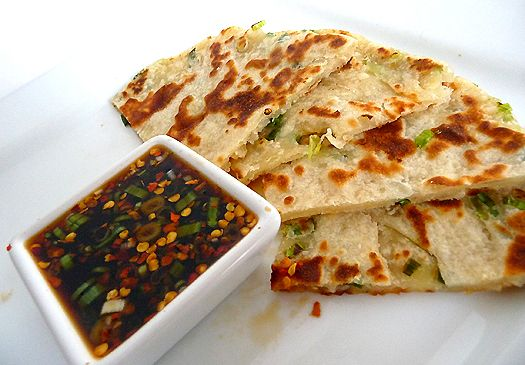 ♥ Scallion Pancakes with Ginger Dipping Sauce. #appetizers #alltimefaves
