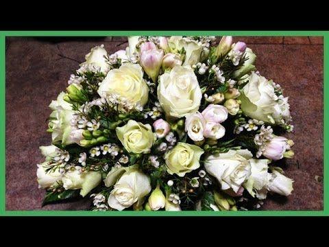 Bloemstuk maken - Leer zelf een bloemstuk / grafstuk maken - YouTube