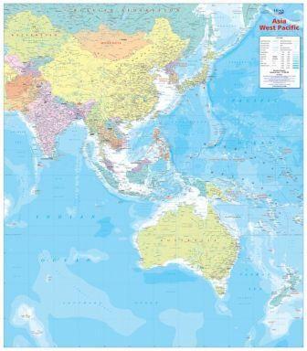 *-* Mapy sveta - Pacifik západný 1:15,65mil  politická nástenná mapa