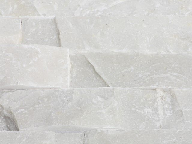 Naturstein Verblender Wandverkleidung Quarzit Riemchen Weiß : Riemchen NatursteinVerblender weiß