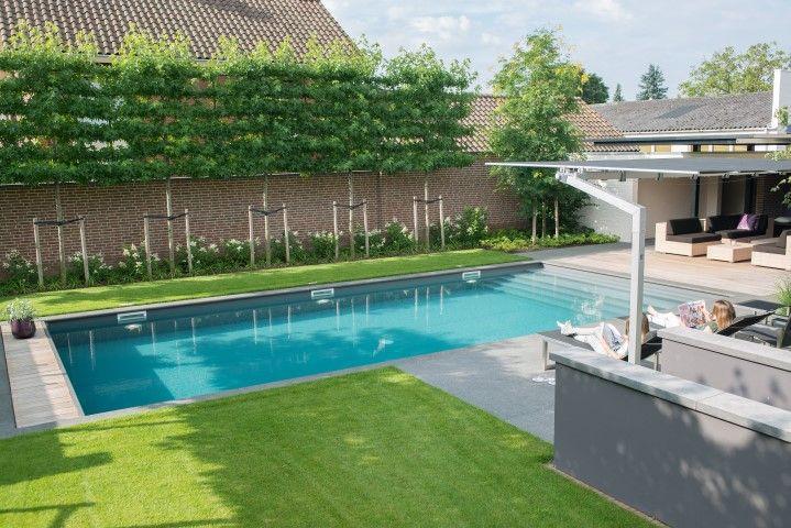 25 beste idee n over zwembaden op pinterest zwembaden for Afmetingen zwembad tuin