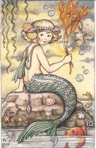 mermaid to paint