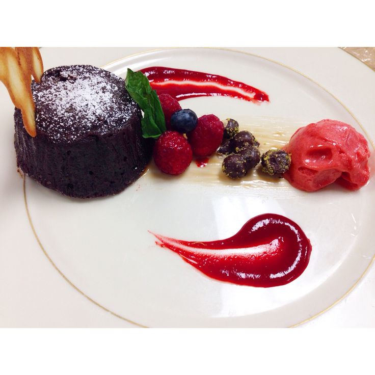 Chocolate Molten Lava Cake Food Styling Plating In 2019