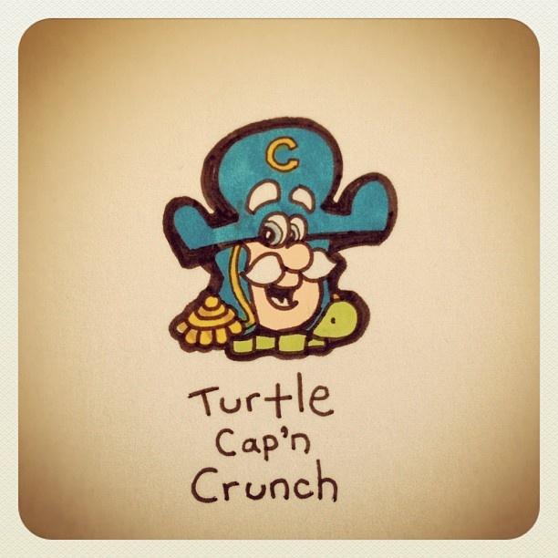 Turtle Cap'n Crunch #turtleadayjuly - @turtlewayne- #webstagram