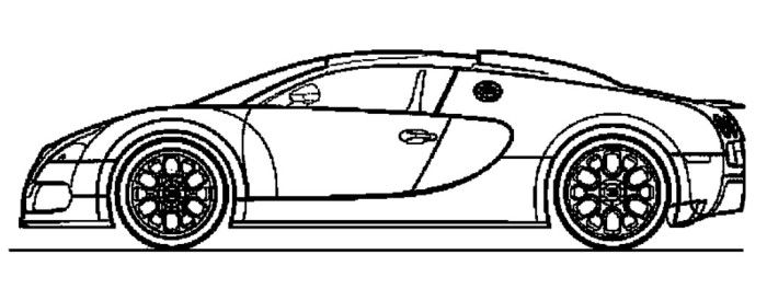 luxury car bugatti veyron coloring page