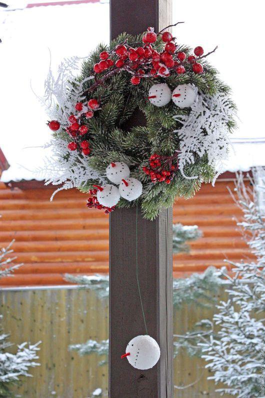 Новый год 2017 ручной работы. Заказать Подвесной рождественский венок Були-Були. Cadeaux de Noёl. Ярмарка Мастеров.