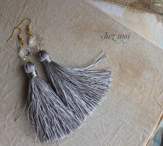 Tassel Earrings  Tassel Jewelry  Statement di ChezMoiLesBijoux