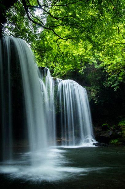 Nabegataki falls, Kumamoto, Japan #Green #緑