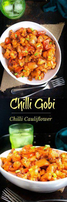 Chilli Gobi / Chilli Cauliflower - Indo Chinese - Recipe with video