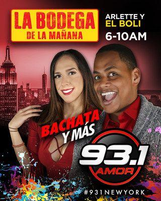 """93.1FM Amor Bachata y Más estrena show matutino en Nueva York: """"La Bodega de la Mañana""""   93.1FM Amor anuncia la incorporación de Bolívar Valera """"El Boli"""" a su equipo y el lanzamiento de su propio show matutino.  NUEVA YORK Enero de 2017 /PRNewswire-/ - La estación líder en Nueva York 93.1FM Amor (Bachata y Más) de Spanish Broadcasting System Inc. (SBS) (OTCQX: SBSAA) anuncia el estrenó de su nuevo divertido y entretenido programa matutino: """"La Bodega de la Mañana"""". Un programa innovador y…"""
