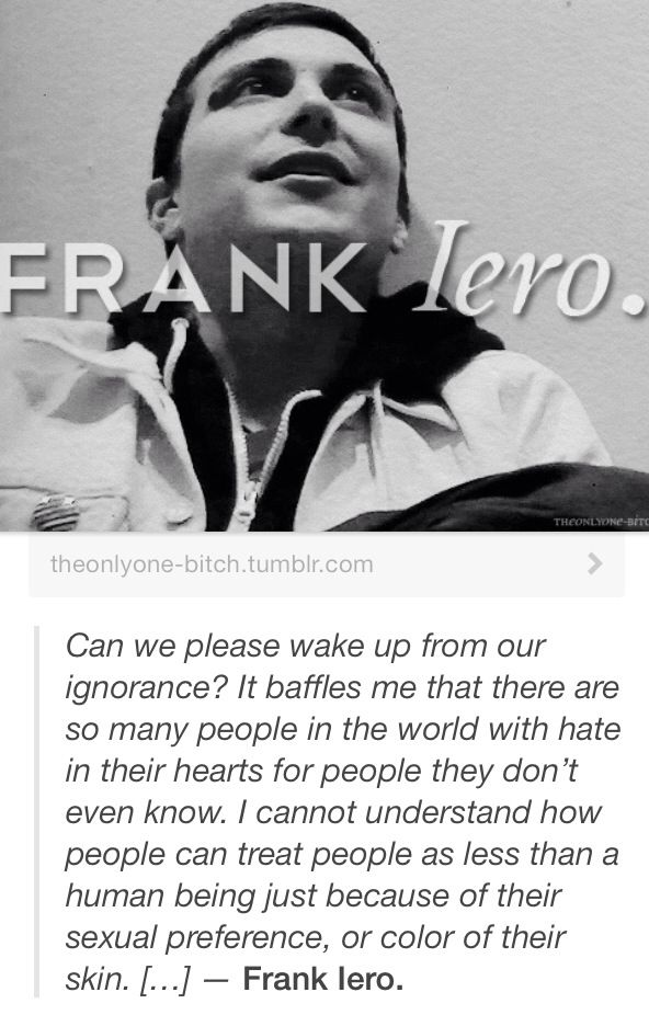 I love you Frank